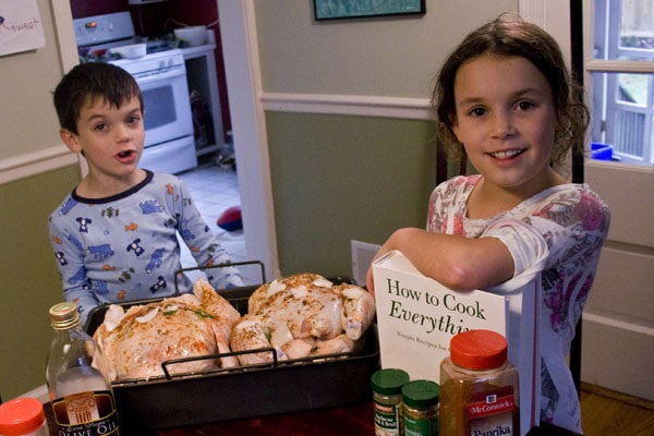 Homeschooled Children Cooking