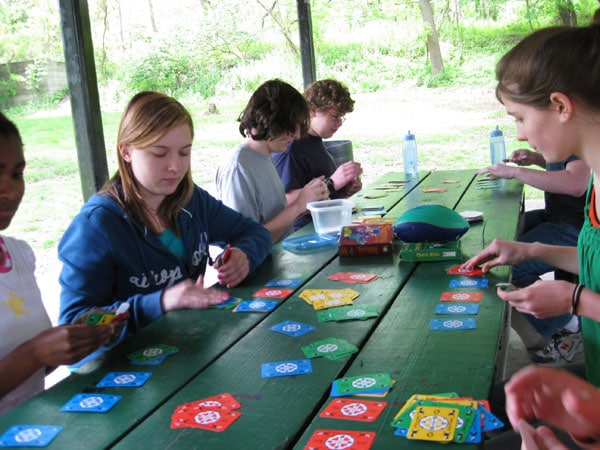 Homeschool Picnic - Children playing Games and socialising
