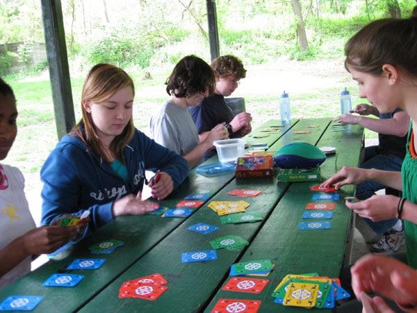 Homeschool Picnic - Children playing Games and socialising