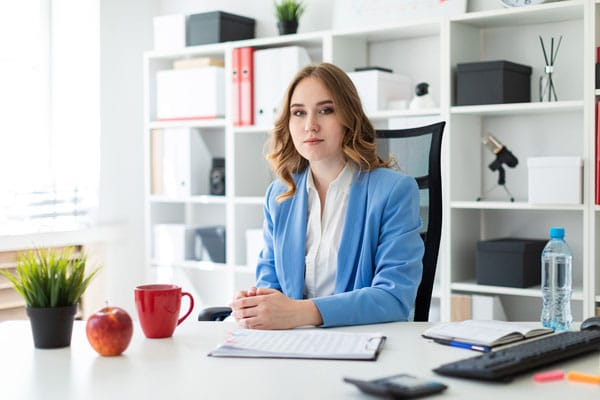Financial Management skills - Woman at Desk
