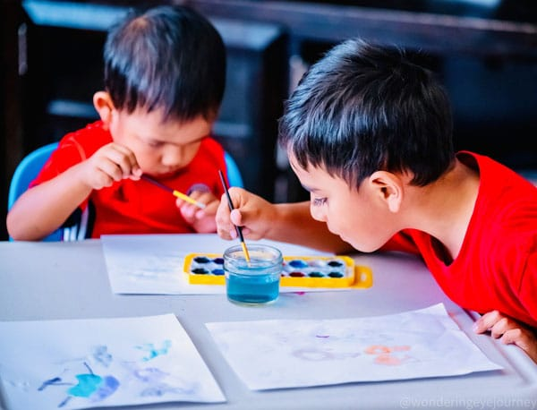 School education - Brothers learning together