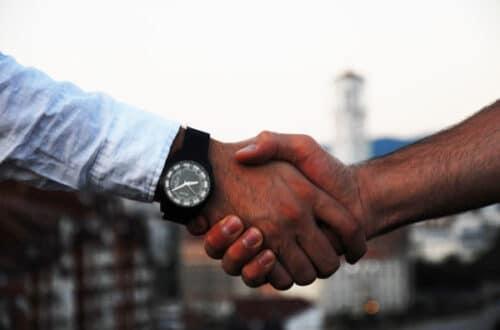 hand shake - learning communication skills