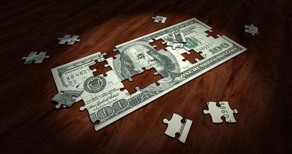learning financial management skills dollar puzzle