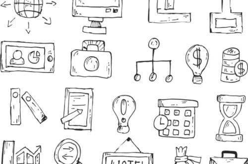 various icons and marketing methods - marketing skills