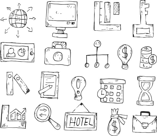 various icons and marketing methods - marketing skills